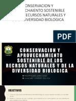 Conservacion y Aprovechaiento Sostenible de Los Recursos Naturales