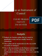 BUDGETS Management Control Systems
