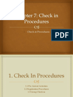Chapter 7^^Check in Procedures