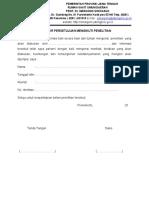 Formulir Persetujuan Mengikuti Penelitian