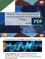 Medición de Presión Sonora Para Evaluar Exposición en El Lugar de Trabajo. Dr. Horacio Reeves