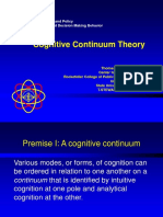 Cognitive Continuum Theory