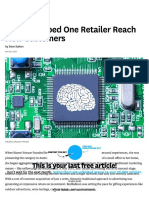 How AI Helped One Retailer Reach New Customers (HBR 05.28.2018)