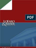 New Jersey Law Firm Color Brochure - LoFaro & Reiser LLP