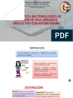 Dx. Bacteriológico de Infección de Vías Urinarias Urocultivo Con Antibiograma
