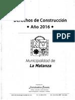 Derechos de Construccion 2016_La Matanza