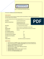 AES Chennai 2010 Fact Sheet