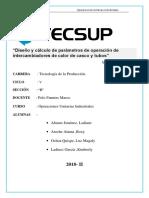 Diseño y Cálculo de Parámetros de Operación de Intercambiadores de Calor de Casco y Tubos