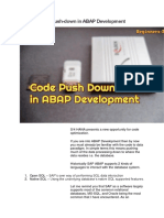 Code Push-down in ABAP Development