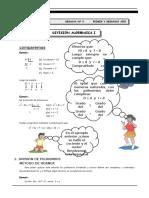 Algebra Primero y Segundo Mañana