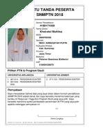 Kartu Pendaftaran SNMPTN 2018 4180171930