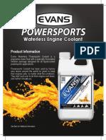 Powersports Spec Sheet Computer coolant