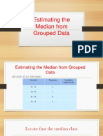 Estimating the Median From Grouped Data