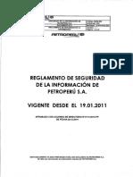 Reglamento de Seguridad de La Información de Petroperú S.a.