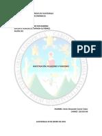Relaciones y Funciones. Matemática II, CCEE. USAC
