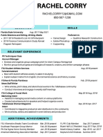 updated resume corry
