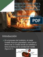 Procesos de Fundicion y Vaciado de Materiales Ferrosos