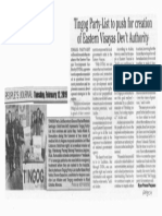 Peoples Journal, Feb. 12, 2019, Tingog Party-List to push for creation of Eastern Visayas Devt Authority.pdf