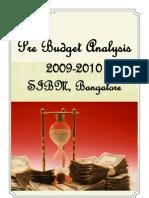 Pre Budget Analysis