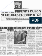 Philippine Daily Inquirer, Feb. 12, 2019, Palace defends DU30's 11 choices for Senators.pdf