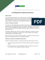 OpenProj Tutorial 2
