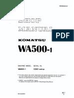 Sm-komatsu Wa500-1 Wheel Loader Service Manual