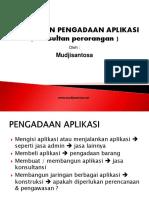 Konsultan Pengadaan Aplikasi Konsultan Perorangan