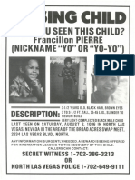 Missing Child Poster
