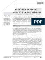 Effect of Maternal Mental Illness on Pregnancy Outcomes