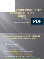 What is your type of music? Home assignment