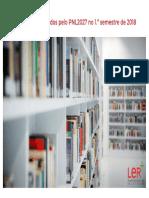 Livros Recomendados PNL 1 Semestre 2018