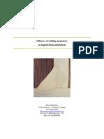 Influence of Welding Parameters
