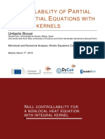 Controllability of Partial Differential Equations with integral kernels - Umberto Biccari - Madrid 2018