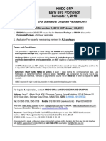 KMDC CFP Early Bird Scheme 2019 Sem 1