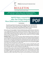NATO Policy Towards Russia After Crimeea