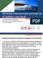 Derecho internacional privado en el campo concursal