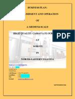 Triple P Investments High Quality Cassava Flour Processing Business Plan - 11.09.2016