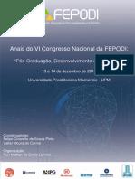 Anais Do VI Congresso Nacional Da FEPODI