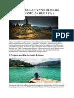 Keunggulan Yang Di Miliki Indonesia