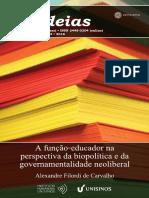 A Função-educador Na Perspectiva Da Bio-política - Alexandre Filord de Carvalho (Cadernos IHU n.244)