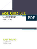 Mse Quiz Bee 2018