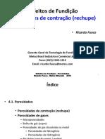 Defeitos de Fundição - 2 - Rechupe - Cintec 2014