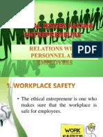 Entrepreneural ethics and social resieponsibilities