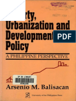 Poverty, Urbanization and Development Policy, A Philippine Perspective