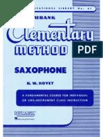 Elementary Method Saxophone rubank - .pdf