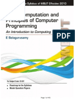 Basic Computation and Principles of Computer Programming an Introduction to Computing Wbut Scanned