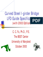 New CurvedSteelI GirderBridge