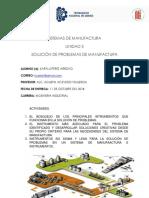 Unidad 3 Solución de Problemas de Manufactura