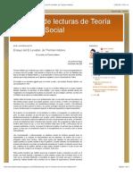 Ensayos de lecturas de Teoría Política y Social