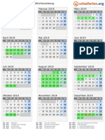 Kalender 2019 Baden Wuerttemberg Hoch